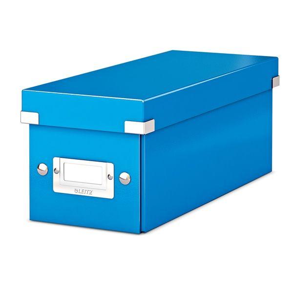 Leitz WOW CD-box blauw metallic  |  De Leitz 6041 CD-Box WOW blauw metallic heeft een modern ontwerp en is door de Click & Store technologie zeer gemakkelijk in en uit elkaar te klikken. Door het PP gelamineerde hardboard is deze CD opbergdoos beter beschermd tegen vuil en vocht. Daarnaast bevat deze CD-doos een etikethouder waardoor de disks beter te indexeren zijn.