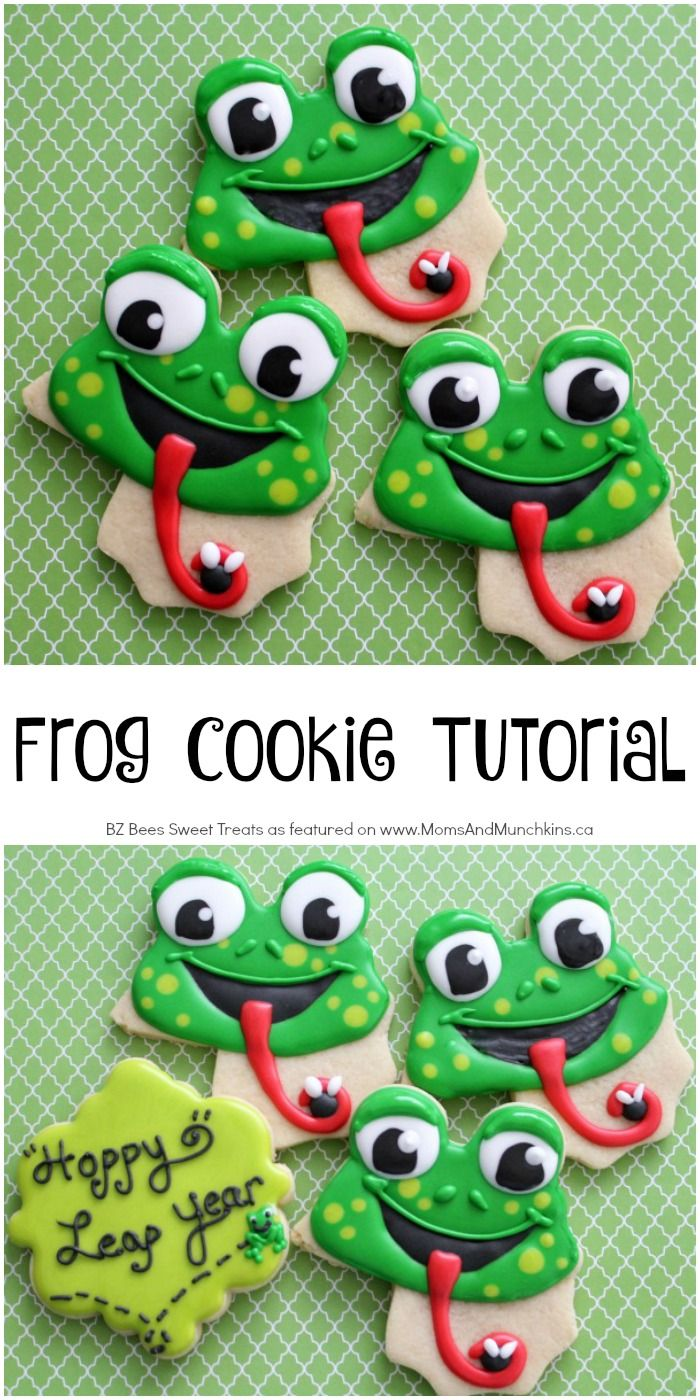 Frog Cookies Decorating Tutorial - perfect for Leap Year, Swamp Party & more!