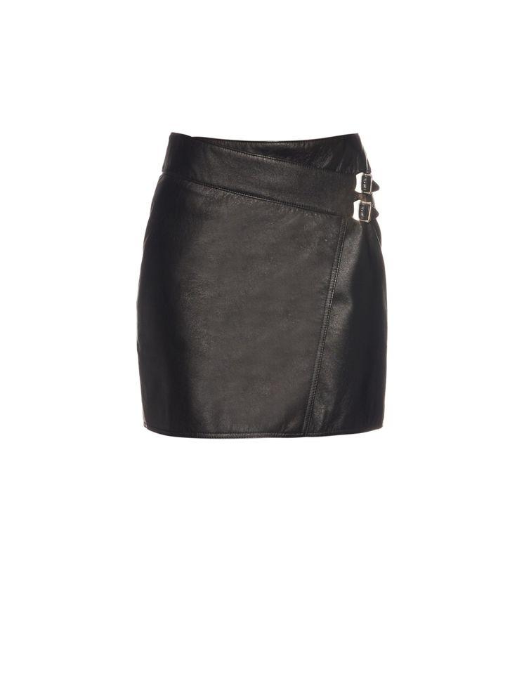 Wrap-front leather mini skirt | Saint Laurent | MATCHESFASHION.COM US