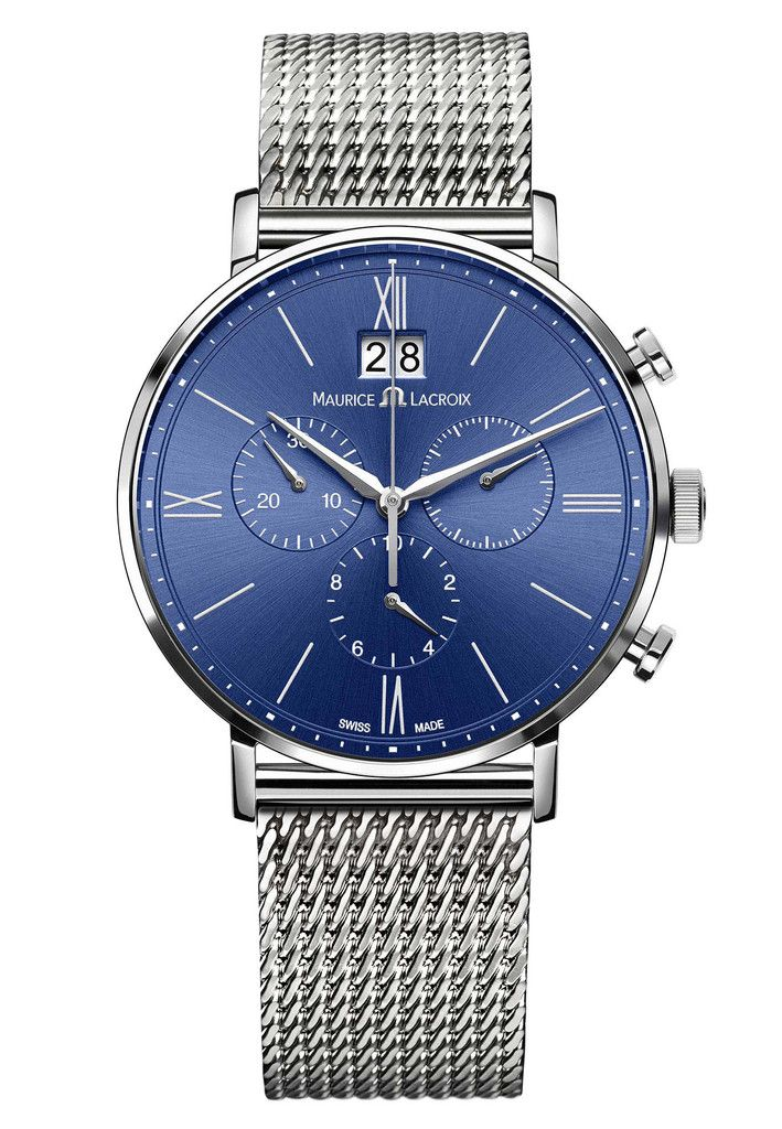 Maurice Lacroix Watch Eliros Chronographe #basel-15 #bezel-fixed #brand-maurice-lacroix #case-material-steel #case-width-40mm #chronograph-yes #date-yes #delivery-timescale-call-us #dial-colour-blue #gender-mens #luxury #movement-quartz-battery #new-product-yes #official-stockist-for-maurice-lacroix-watches #packaging-maurice-lacroix-watch-packaging #style-dress #subcat-eliros #supplier-model-no-el1088-ss002-410 #warranty-maurice-lacroix-official-2-year-guarantee #water-resistant-50m