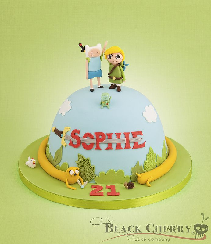 Adventure Time/ Zelda Mash-up Cake