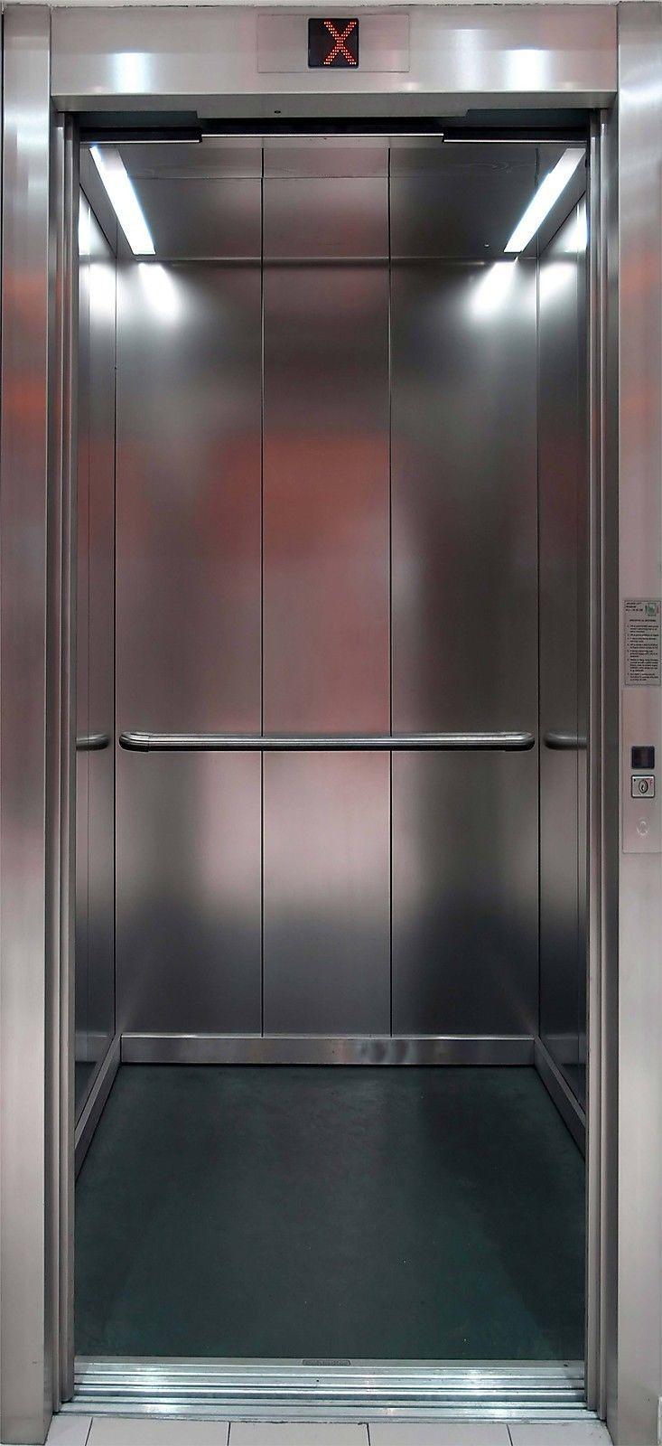 Affiche Poster Porte Déco Trompe Lu0027oeil Ascenseur Réf PA03 - 4 Dimensions
