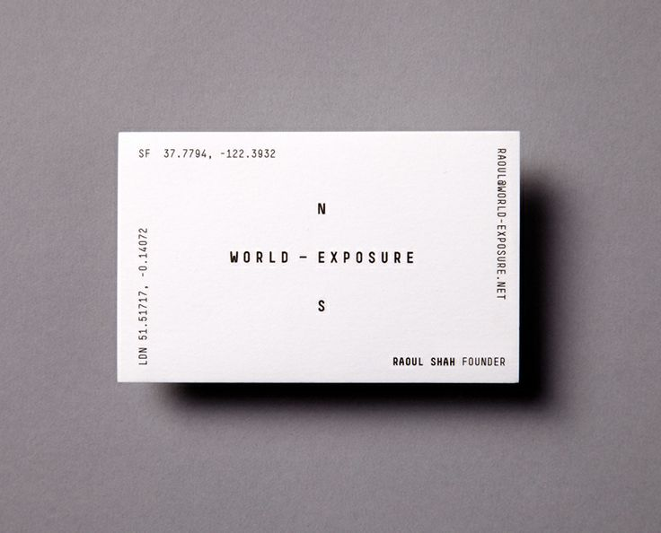Logotype and business card designed by Steve Camp for World Exposure.