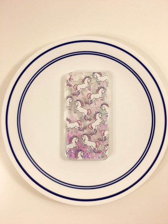Complement your iPhone 6/6s (both sizes available) with this magical unicorn case with freely floating glitter to receive endless compliments. +