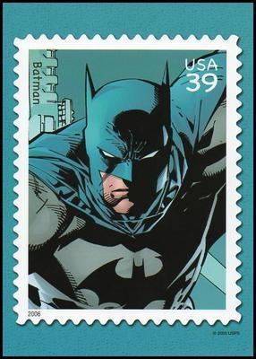 Batman DC Comics Super Heroes Stamp Collectible Postcard