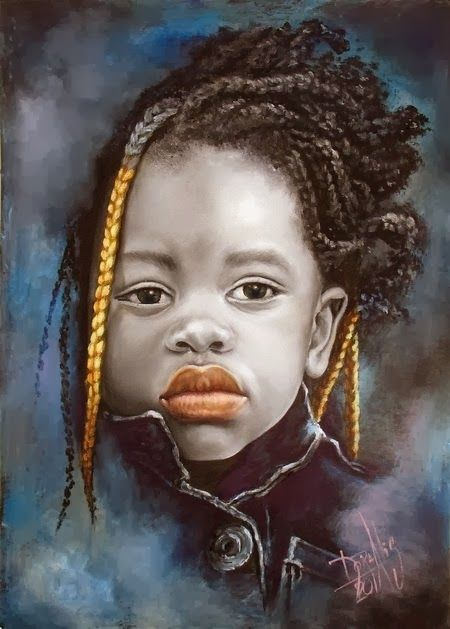 African Children Paintings By Dora Alis 2011
