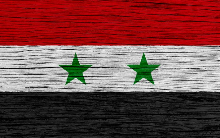 Download wallpapers Flag of Syria, 4k, Asia, wooden texture, Syrian flag, national symbols, Syria flag, art, Syria