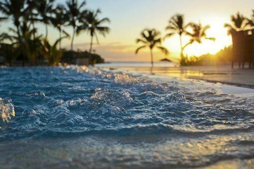 Un bon coucher de soleil sur la plage.