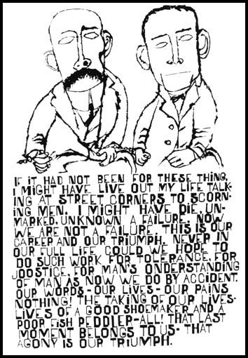 Ben Shahn created this poster to protest the execution of Bartolomeo Vanzetti and Nicolo Sacco who were electrocuted in 1927