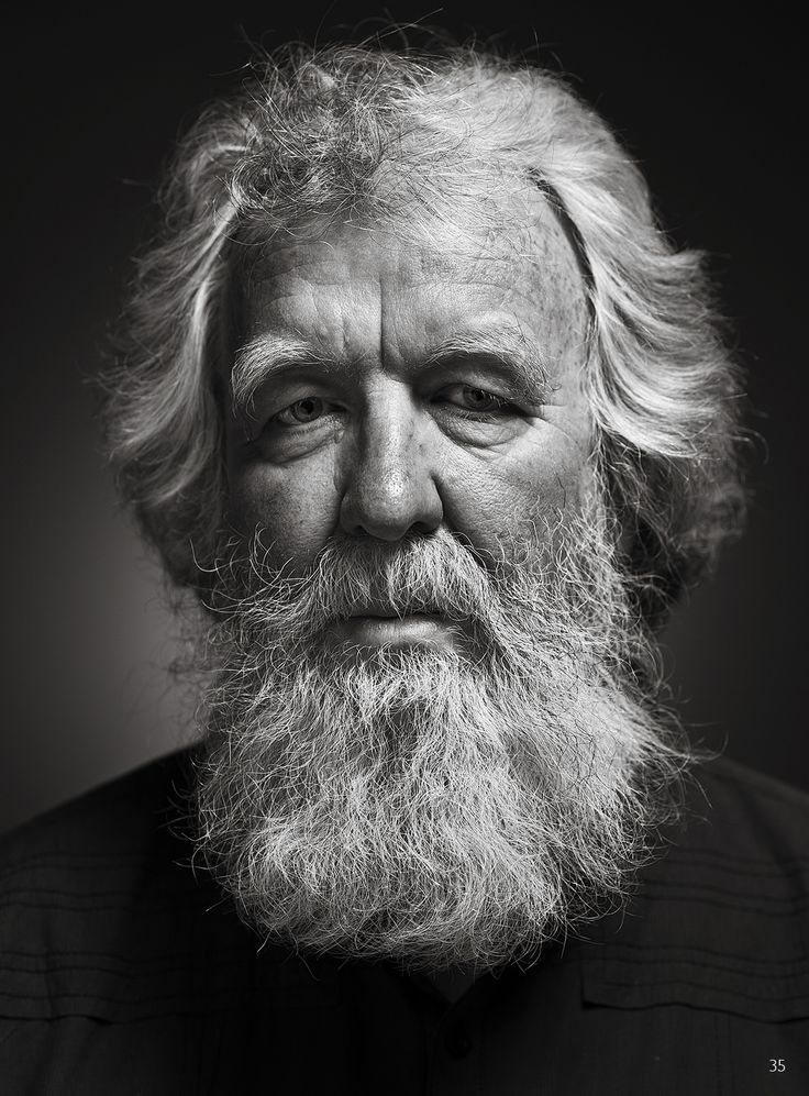 Portrait of Bearded Man by Daniel Campbell | Old man ... An Old Man Face With Beards Images
