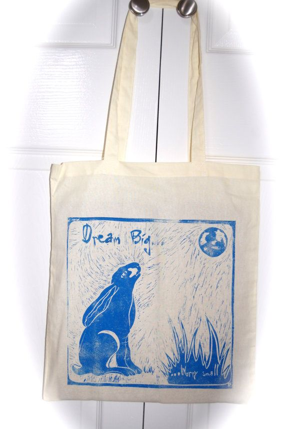 Cotton Shopper. Moon Gazing Hare. 'Dream Big by Tezillustrator, £9.00