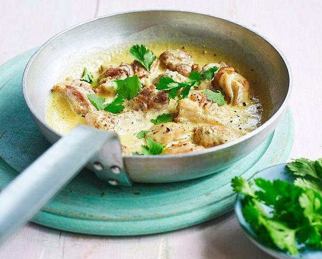 Creme Fraiche and coriander chicken