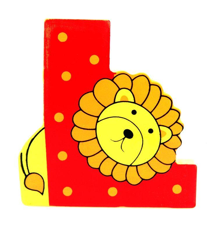 Simpatica lettera L in Legno con l'aspetto di un Leone, per decorare e rendere più bella la cameretta componendo nomi, frasi. Sono disponibili tutte le lettere dell'alfabeto  Può essere appoggiata su una mensola oppure si puo' fissare con colla o biadesivo o possono anche essere utilizzate per giocare.  Dimensioni cm 6,5 x 7 x 1  Materiale: Legno.   I colori possono cambiare in base alle disponibilita'