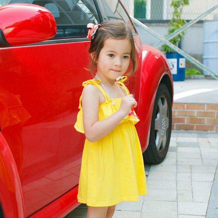 Mehr Bekleidung-Informationen über Haosunshine koreanische Stil Mädchen Baumwolle Kleid 2015 neue Ankunft Baby Kinder Kleid Baby Mädchen Kleidung vestidos infantis Rosa Gelb, hochquaitative Bekleidung  von HaoSunshine finden Sie auf Aliexpress.com