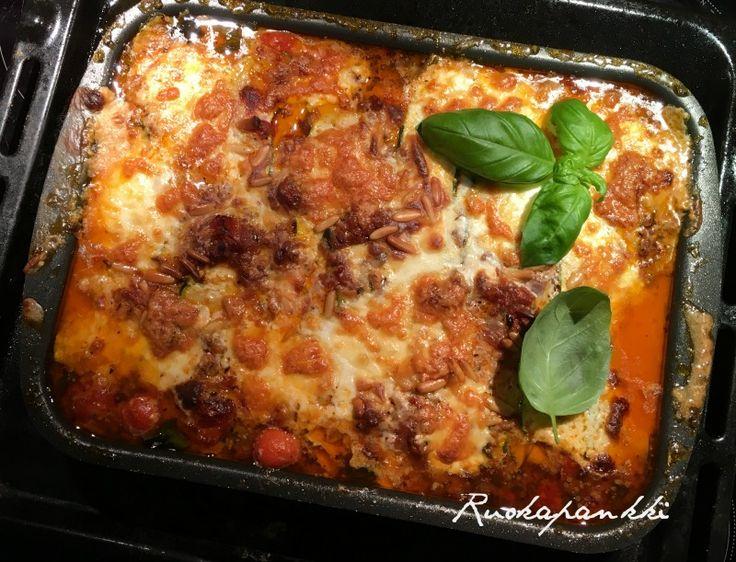 Ruokapankki: Italialaishenkinen kesäkurpitsalaatikko