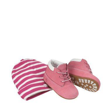 Kängor och mössa, Infant Crib, rosa