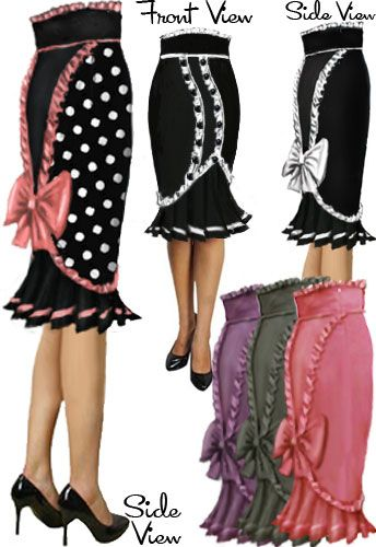 Rockabilly Ruffle Skirt by Amber Middaugh --- Save 37% at ChicStar.com --Coupon: AMBER37