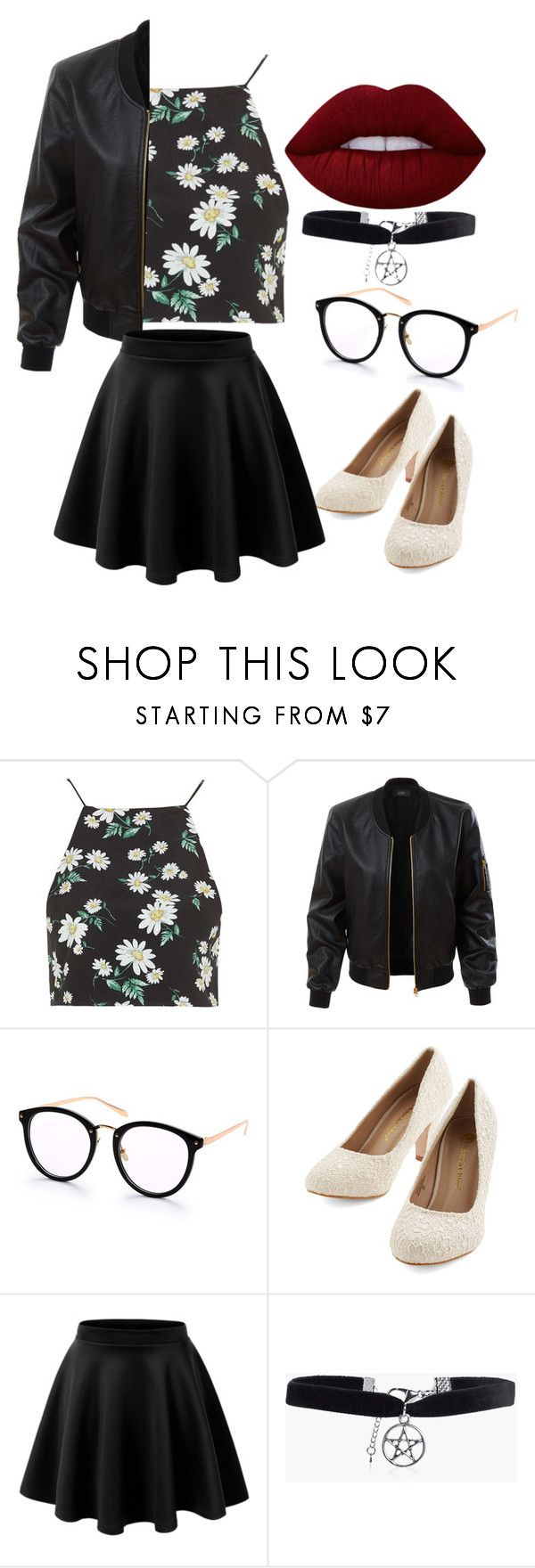 """""""outfit"""" by hjeanb on Polyvore featuring Topshop, LE3NO, Boohoo and Lime Crime"""
