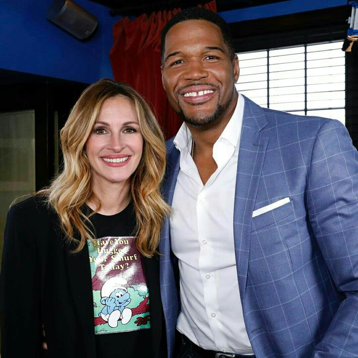 Julia Roberts and Michael Strahan 4-5-2017
