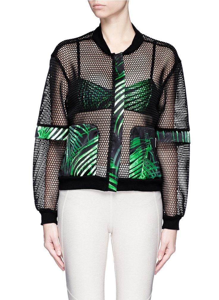 We Are Handsome   Green 'the Kinabalu' Print Active Mesh Bomber Jacket   Lyst