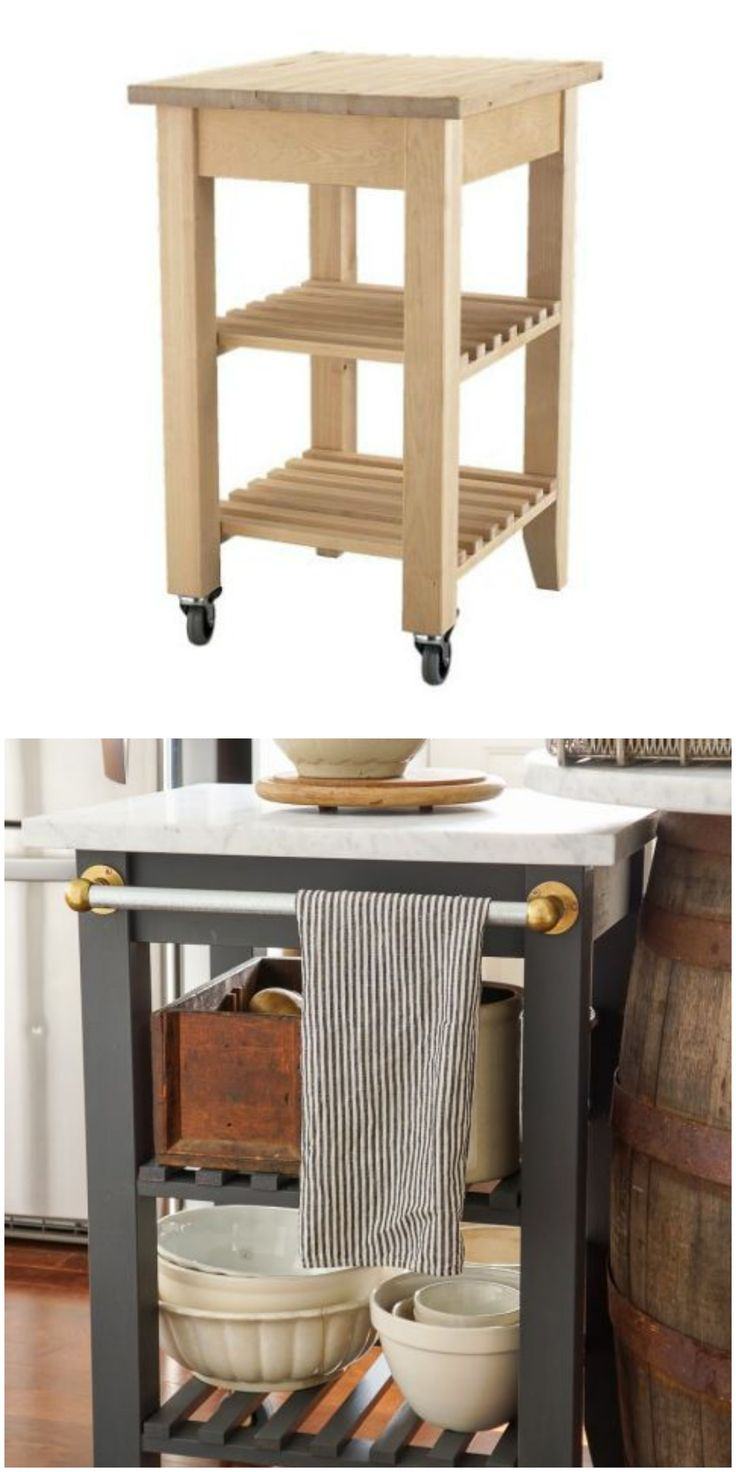 The Bekvam kitchen cart dazzles as a portable kitchen island in this IKEA hack!