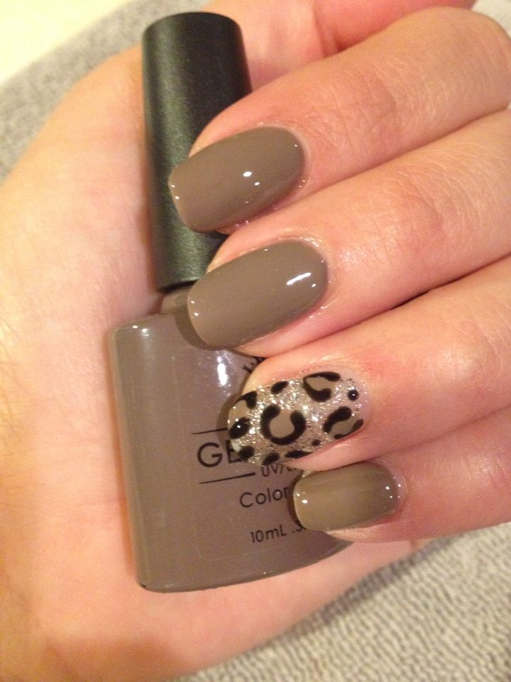 Nail art. Leopard spots www.gelpolish.co.nz