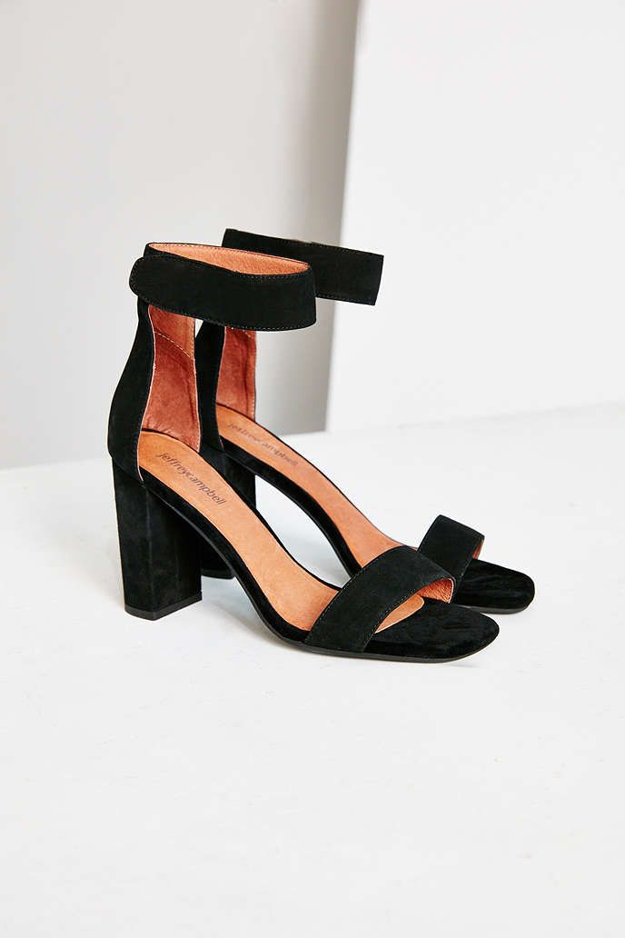 Finally a stacked heel! Jeffrey Campbell Holvey Suede Heel - Urban Outfitters