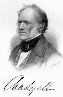 On November 14, 1797, Charles Lyell, British lawyer and the foremost geologist of his day, was born. Lyell was a close friend to Charles Darwin and is best known as the author of Principles of Geology, which popularised James Hutton's concepts of uniformitarianism – the idea that the earth was shaped by the same processes still in operation today.