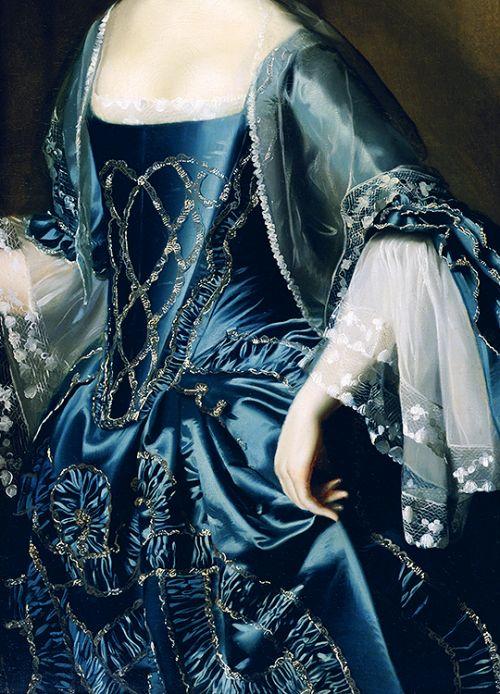 "warpaintpeggy: ""  INCREDIBLE DRESSES IN ART (119/∞) Mrs. Daniel Sargent (Mary Turner) by John Singleton Copley, 1763 """