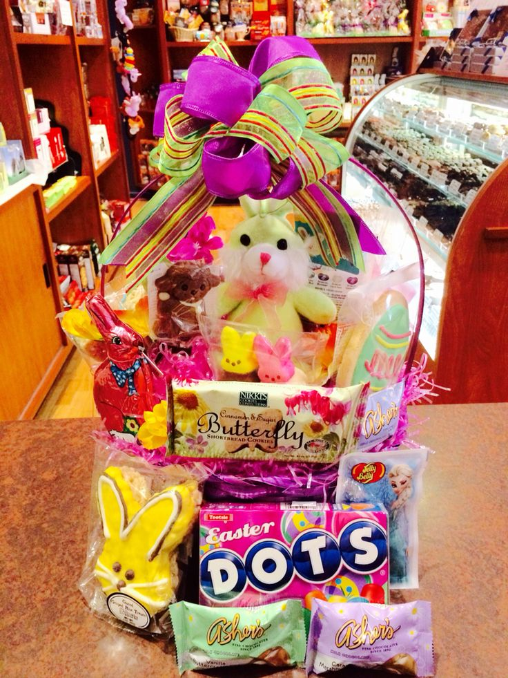 Baskets galore here at the royal chocolate easter