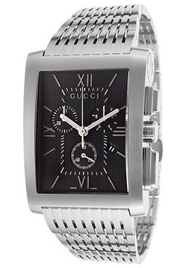 Chronograph Stainless Steel Black Dial Watch