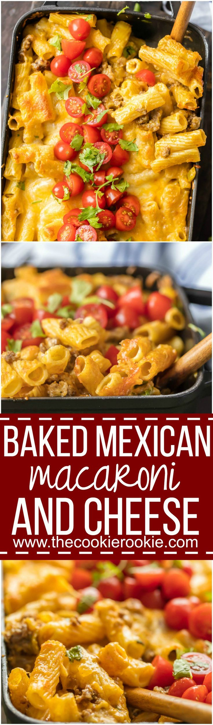 This BAKED MEXICAN MACARONI AND CHEESE can't be beat! No need to fool with a tricky cheese sauce when you have this secret ingredient making things extra creamy and delicious! Spicy sausage, green chiles, macaroni and cheese! via @beckygallhardin