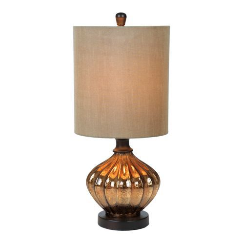 Bronze Mercury Glass Table Lamp