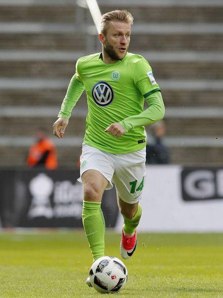 Jakub Blaszczykowski of VfL Wolfsburg runs with the ball during the Bundesliga match between Hertha BSC and VfL Wolfsburg at Olympiastadion on April 22, 2017 in Berlin, Germany.