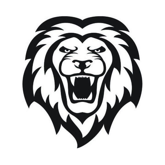 Lions Mascot Lion Vector Eps Dxf Svg Png Vinyl Cutter Etsy In 2021 Lion Vector Simple Lion Tattoo Lions