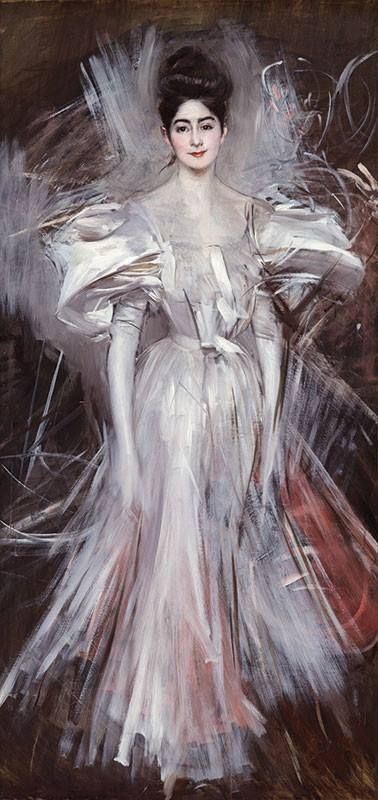 ▴ Artistic Accessories ▴ clothes, jewelry, hats in art - Giovanni Boldini | Fuoco d'Artificio (Fireworks), 1894
