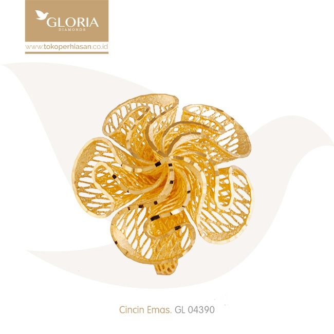 Cincin Model Mawar Jala 5 Kelopak. #goldring #goldstuff #gold #goldjewelry #jewelry #engagementring #perhiasanemas #cincinemas #tokoperhiasan #tokoemas