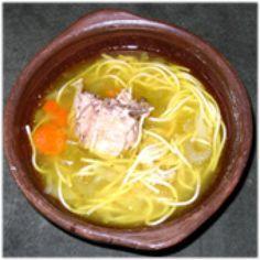 Spanish Chicken Noodle Soup - Sopa de Pollo con Fideos