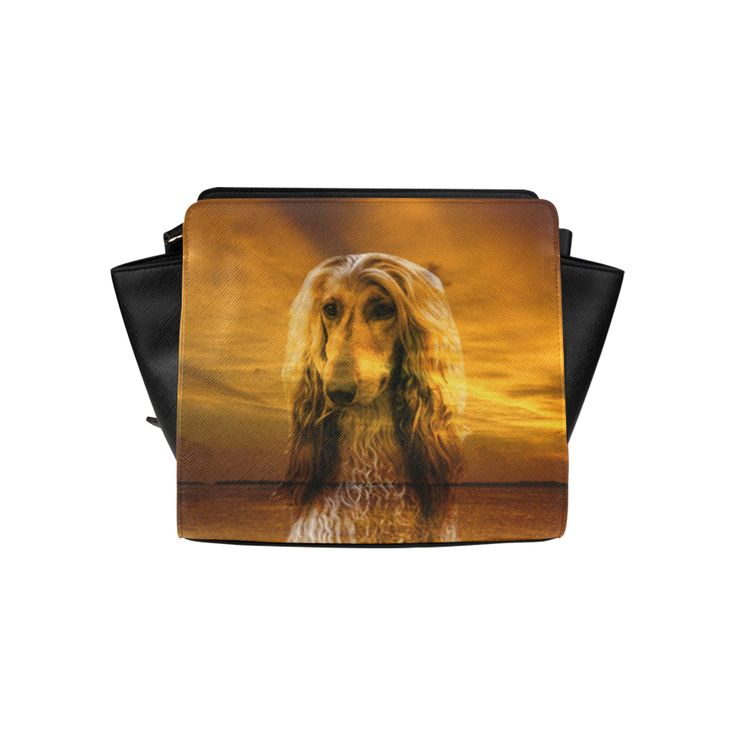 Dog Afghan Hound Satchel Bag (Model 1635)