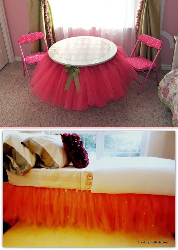 Diy Projects: DIY Tutu Table and Bed Skirt