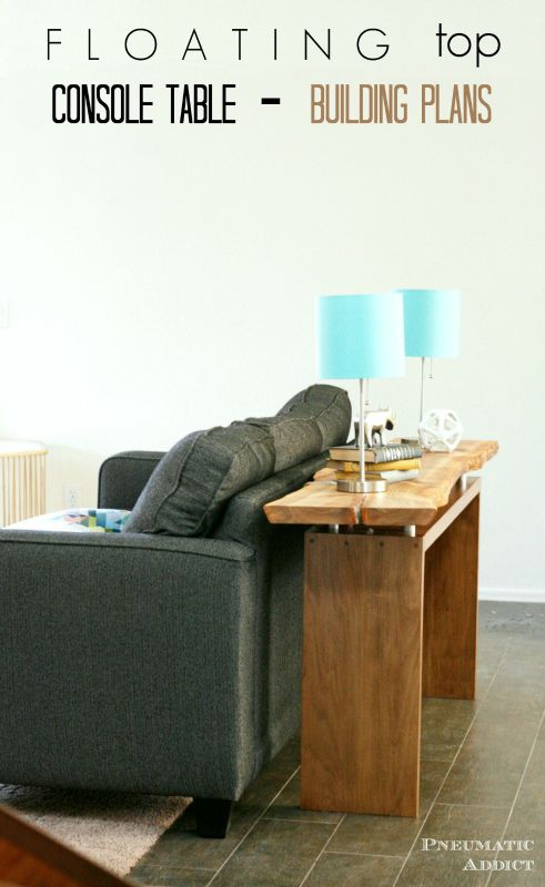 Floating Top Console Table Building Plans
