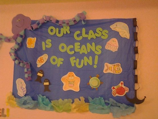 My Ocean bulletin board :) I drew/made all the animals.