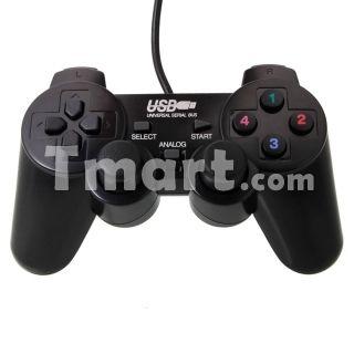 USB GamePad Singles Controller for PC Black