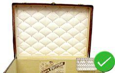 Guide d'achat malle de luxe - restauration de capiton louis vuitton ancienne malle2Luxe