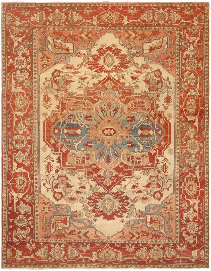 Antique Persian Serapi Rug 46247 Detail/Large View - By Nazmiyal