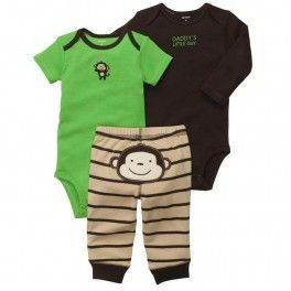 carter's baby clothing set of 3 boys and girls pants rompers