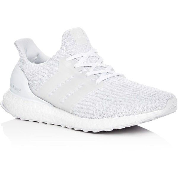 Adidas Men's Ultraboost Lace Up Sneakers ($180) ❤ liked on Polyvore featuring men's fashion, men's shoes, men's sneakers, white, adidas mens sneakers, mens lace up shoes, mens white sneakers, mens white shoes and mens sneakers