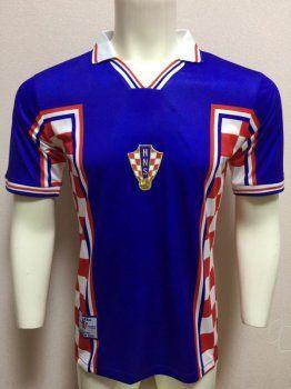 f0d049fcd 1998 World Cup Jersey Croatia Away Replica Blue Shirt  BFC191 ...