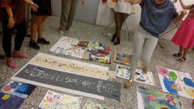 """Indicative photo of the artistic workshop """"Tracing the artistic language in the shell of diversity"""""""