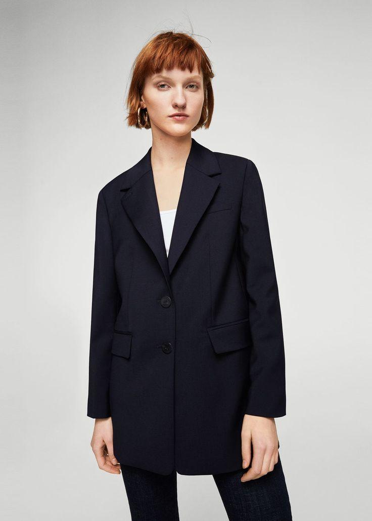 Structured wool blazer | MANGO